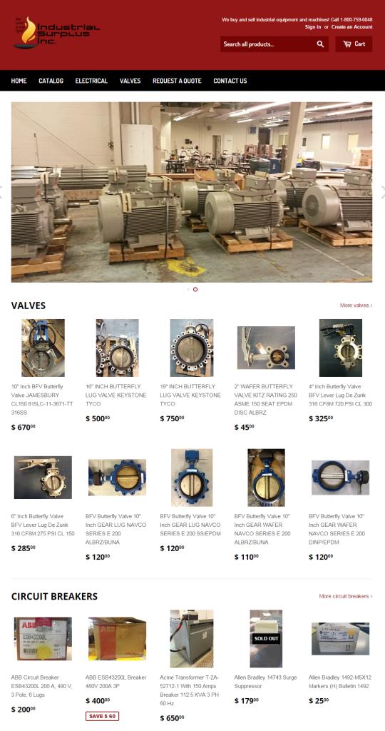 industrialsurplusworldstore-frontpage